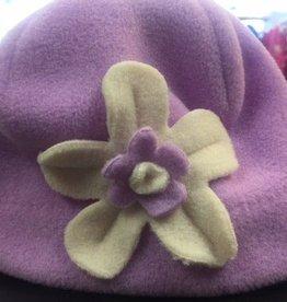 Puffin Gear Puffin Gear hat purple/white flower 6-12 mths