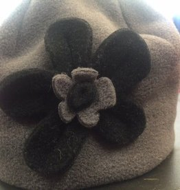 Puffin Gear Puffin Gear hat  grey/black flower 12-24 m