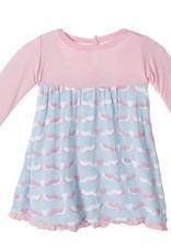 kickee pants Kickee Pants dress l/s cuttlefish 18-24 m