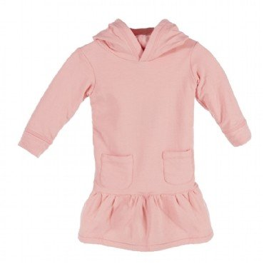 kickee pants Kickee Pants dress hoodie fleece l/s blush sz 8