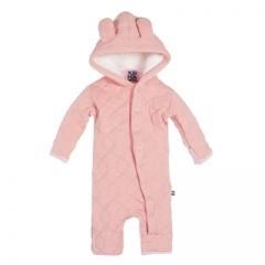 kickee pants Kickee Pants coverall hoodie blush newborn