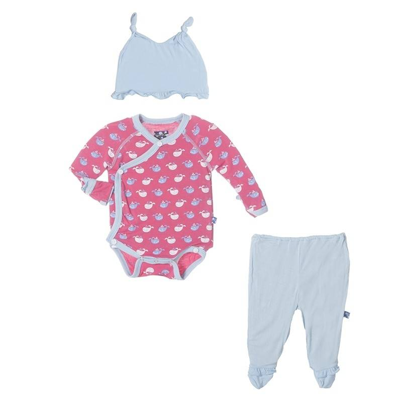kickee pants Kickee Pants gift set  tiny whale rose newborn