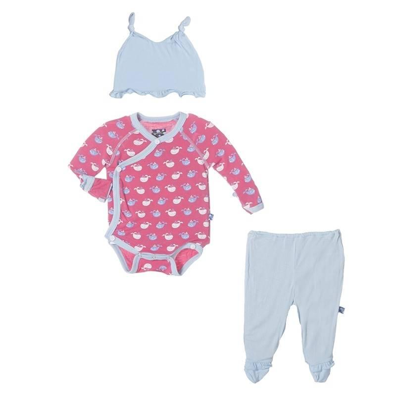 kickee pants Kickee Pants gift set  tiny whale winter rose 0-3 m