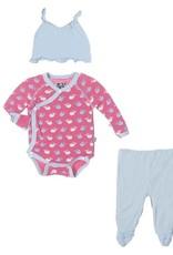 kickee pants Kickee Pants gift set  tiny whale winter rose 3-6 m