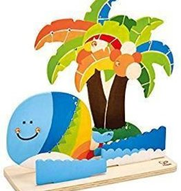 Hape Hape craft Fantasy Tropical Island Paint & Play