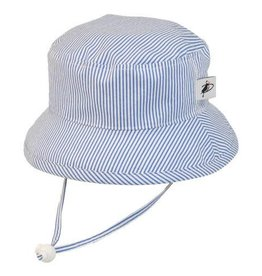 Puffin Gear Puffin Gear hat sunbaby blue natty stripe 12-24 m