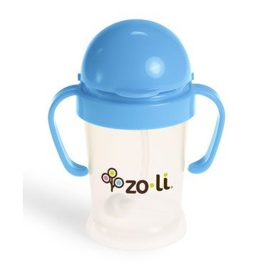 Zoli Zoli sippy cup blue with straw 6 oz