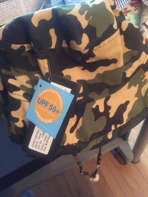 Puffin Gear Puffin Gear hat camp camo green size 5-10yrs