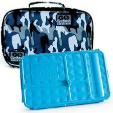 go green lunch box set blue camo