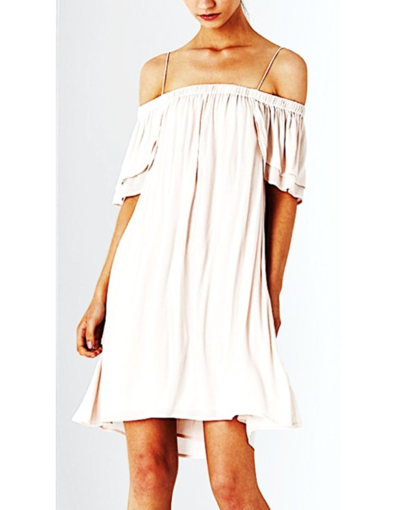Dolce Off the Shoulder Petal Dress