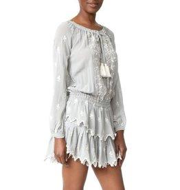 Love Shack Fancy Popover Ruffle Dress