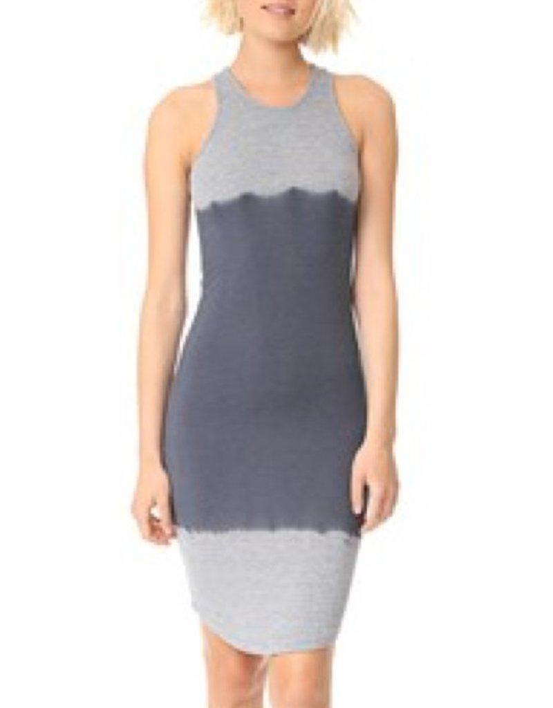 Two Tone Midi Dress