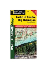 National Geographic National Geographic 101: Cache Le Poudre | Big Thompson Map