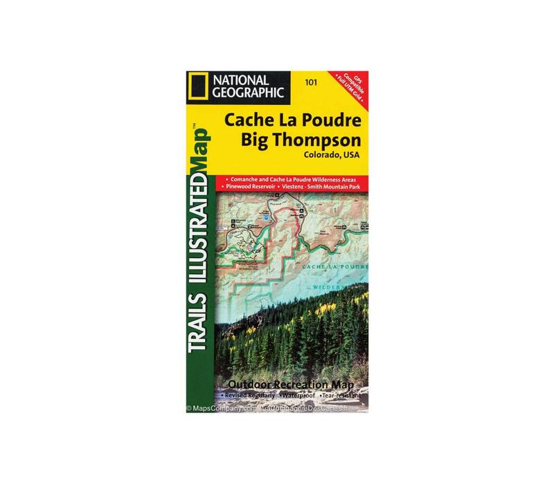 National Geographic 101: Cache Le Poudre | Big Thompson Map