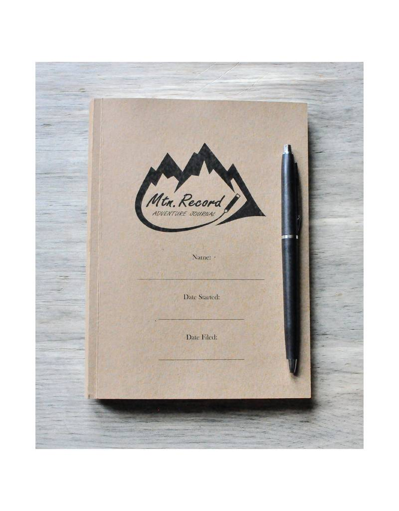 Mtn Record Original Adventure Journal - No Leather Sleeve