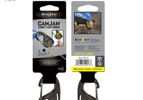 Nite Ize Camjam Cord Tightener [Black, 1 Pack]
