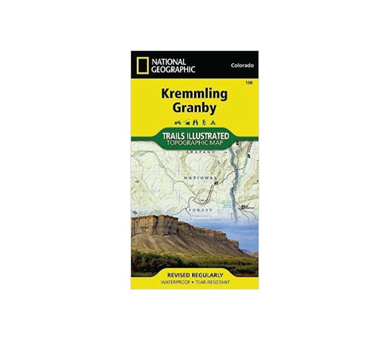National Geographic 106: Kremmling | Granby Map