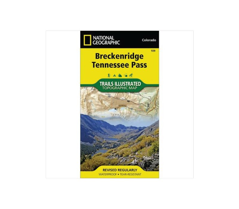 National Geographic 109 Breckenridge Tennessee Pass Map Feral
