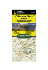 National Geographic National Geographic 1302: Colorado 14ers North Map Guide