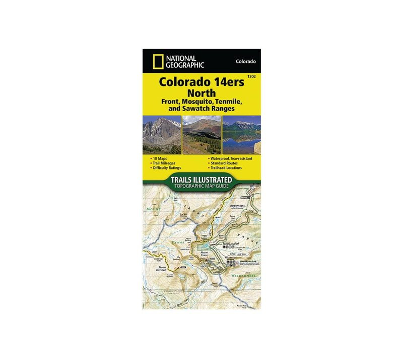 National Geographic 1302: Colorado 14ers North Map Guide