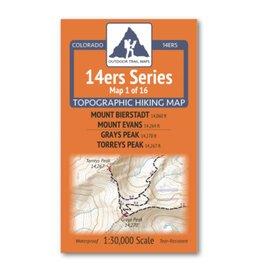 Outdoor Trail Maps 14er Series |  Bierstadt/Evans/Grays/Torreys Map