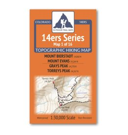 Outdoor Trail Maps Outdoor Trail Maps 14er Series : Bierstadt | Evans | Grays | Torreys Map