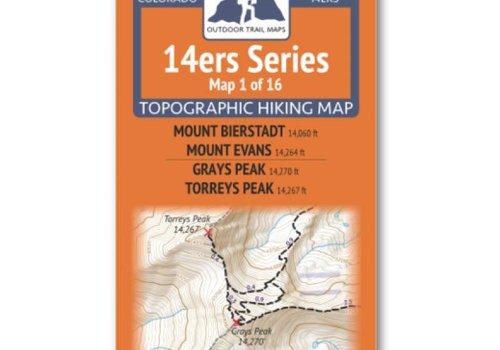 Outdoor Trail Maps Outdoor Trail Maps 14er Series : Bierstadt   Evans   Grays   Torreys Map