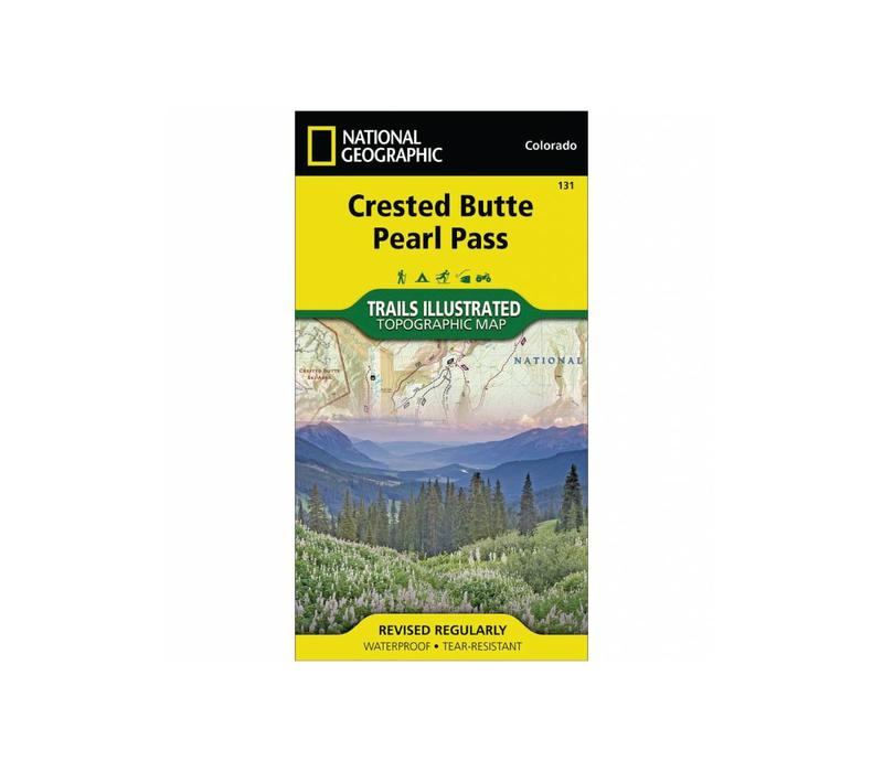 National Geographic 131: Crested Butte   Pearl Pass Map