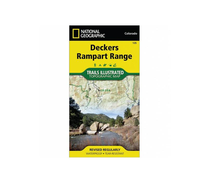 National Geographic 135: Deckers | Rampart Range Map