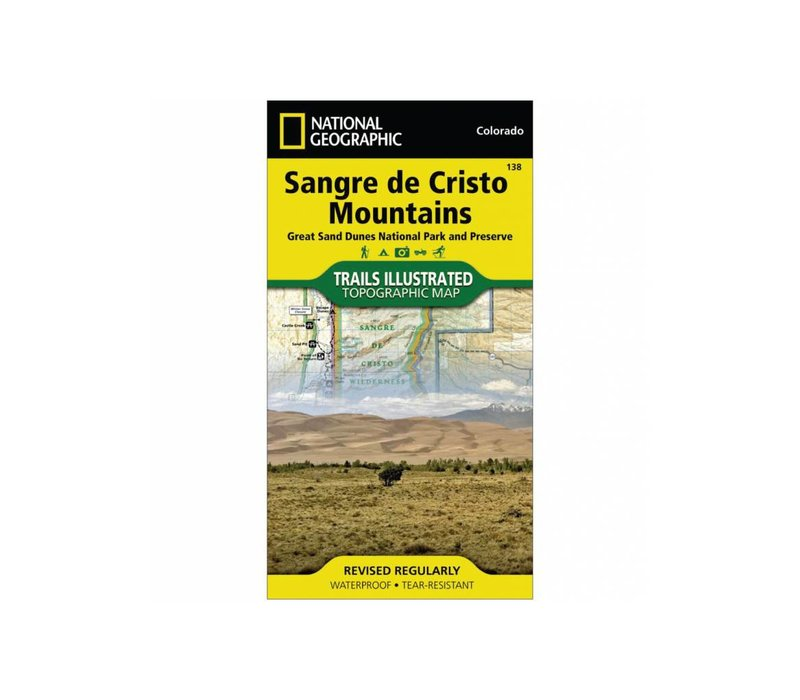 National Geographic 138: Sangre De Cristo Mountains Map