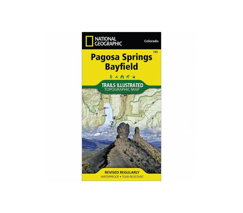 National Geographic 145: Pagosa Springs | Bayfield Map