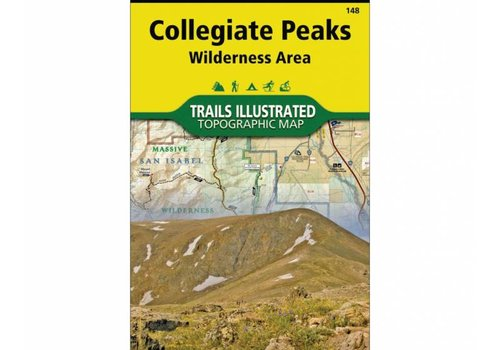 National Geographic National Geographic 148: Collegiate Peaks Wilderness Map