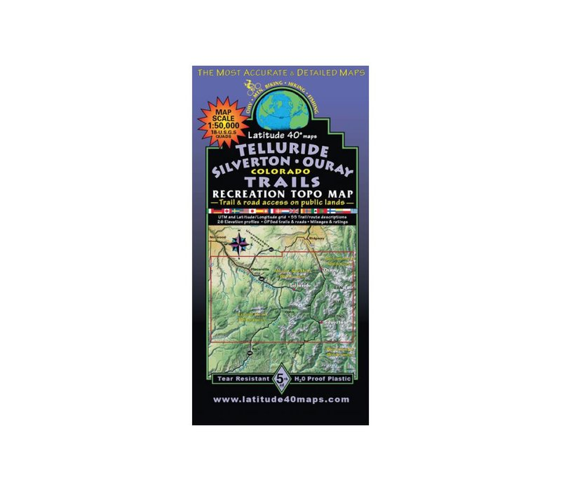 Latitude 40 Telluride | Silverton | Ouray Map