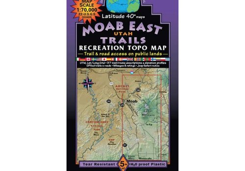Latitude 40 Moab East Map