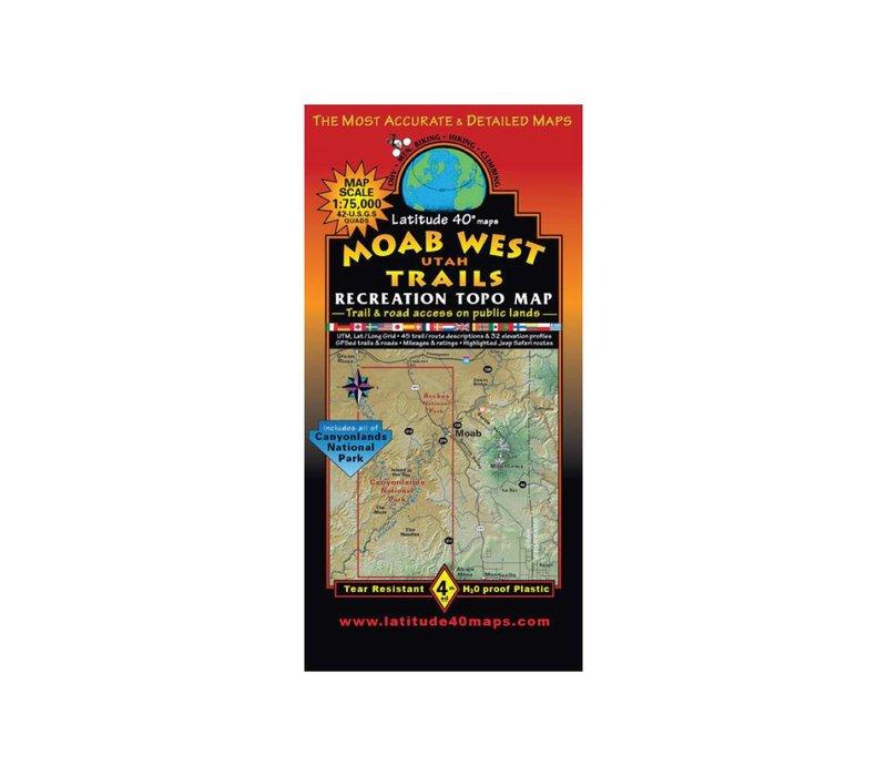 Latitude 40 Moab West Map