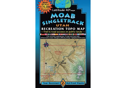 Latitude 40 Moab Singletrack Map