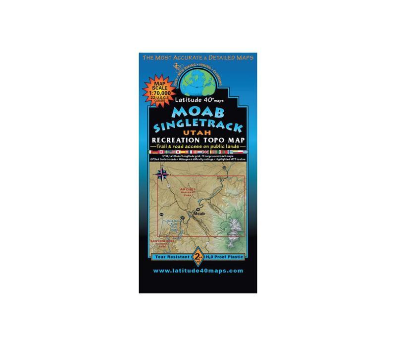Latitude 40 Moab Singletrack Map