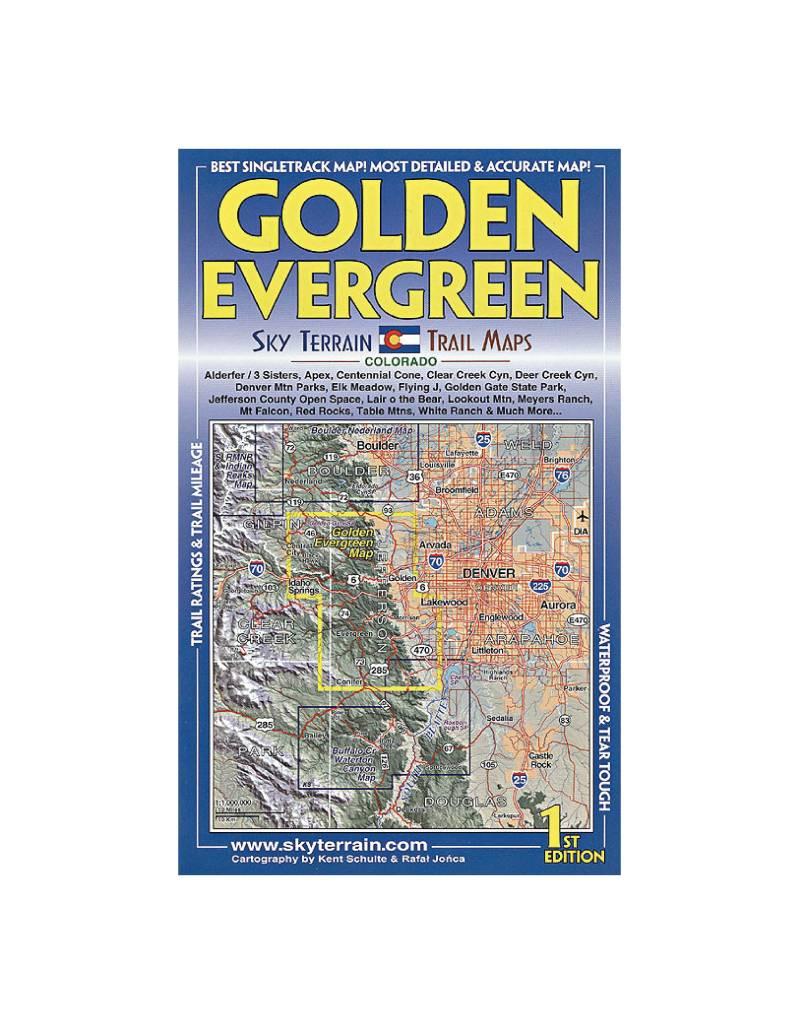 Sky Terrain Trail Maps Golden Evergreen FERAL