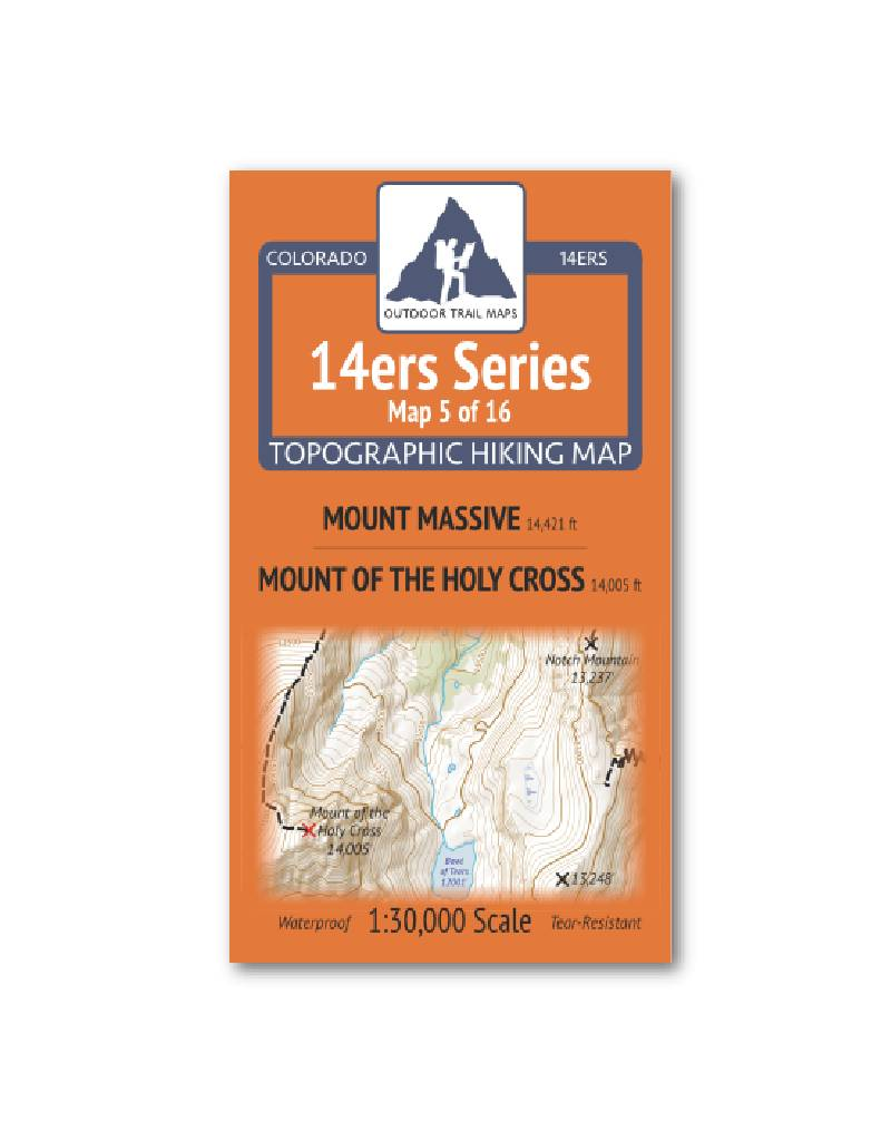 Outdoor Trail Maps Outdoor Trail Maps 14er Series : Mount Massive | Mount of the Holy Cross Map