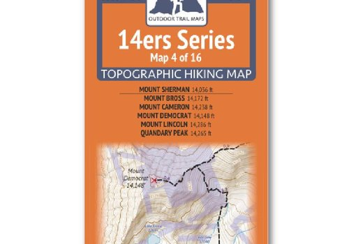 Outdoor Trail Maps Outdoor Trail Maps 14er Series : Sherman | Bross | Cameron | Democrat | Lincoln | Quandary Map