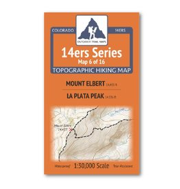 Outdoor Trail Maps Outdoor Trail Maps 14er Series : Mt. Elbert | La Plata Map