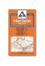 Outdoor Trail Maps Outdoor Trail Maps 14er Series : Columbia   Harvard   Belford   Huron   Missouri   Oxford Map