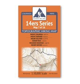 Outdoor Trail Maps Outdoor Trail Maps 14er Series : Columbia | Harvard | Belford | Huron | Missouri | Oxford Map