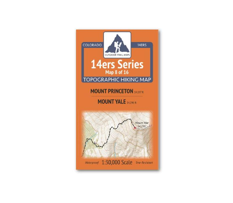 Outdoor Trail Maps 14er Series : Princeton | Yale Map