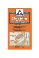Outdoor Trail Maps Outdoor Trail Maps 14er Series : Castle | Conundrum | Maroon |North Maroon | Pyramid Map
