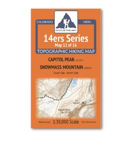 Outdoor Trail Maps Outdoor Trail Maps 14er Series : Capitol | Snowmass Map