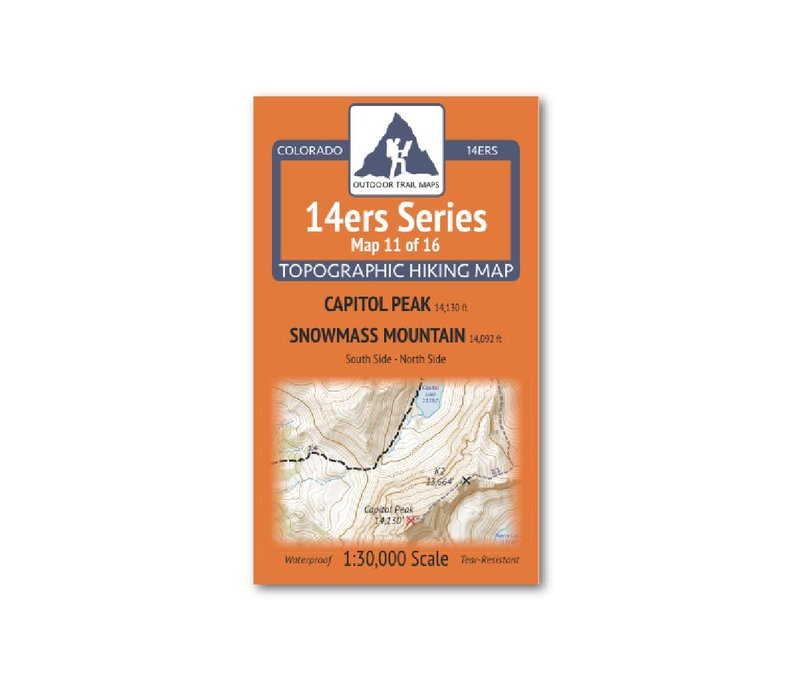 Outdoor Trail Maps 14er Series : Capitol | Snowmass Map