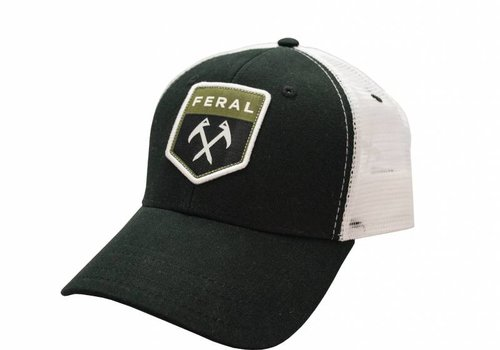 Feral Feral Black | White Patch Trucker Hat