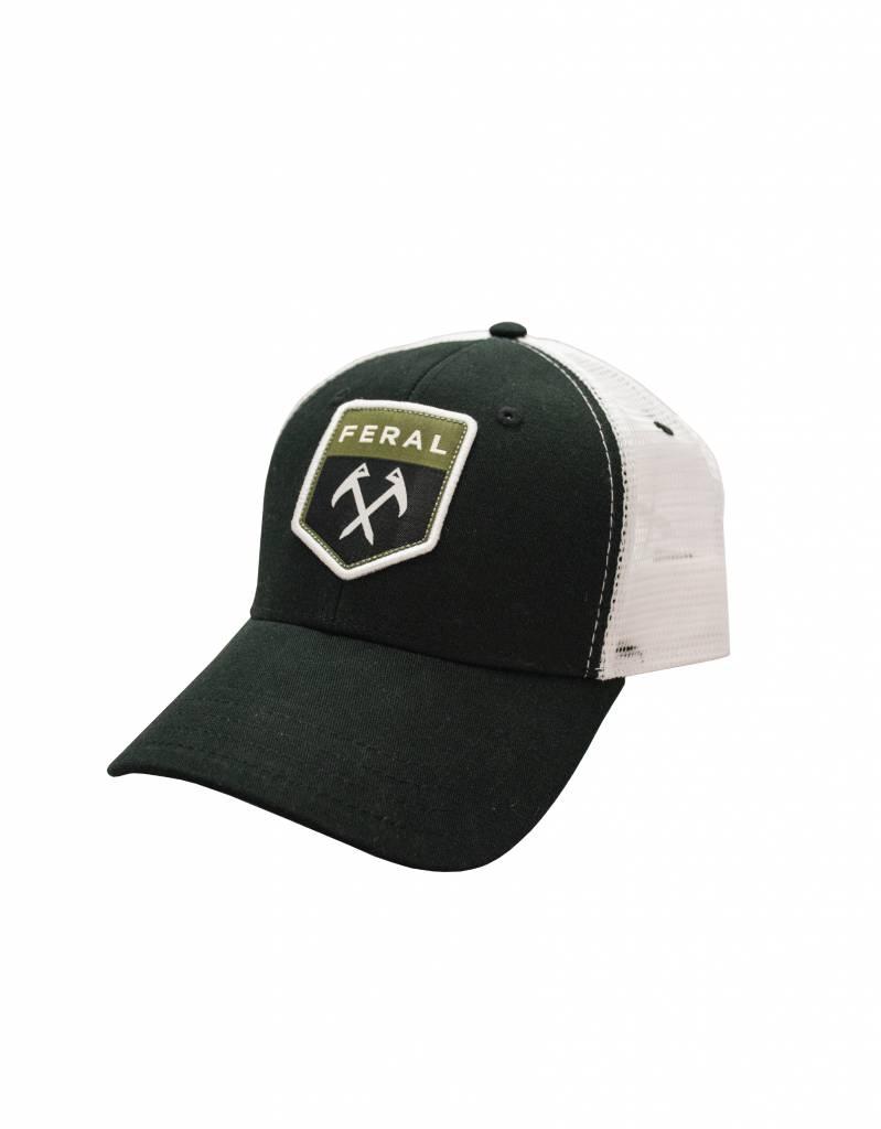 Feral Feral Black   White Patch Trucker Hat