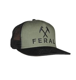 Feral Feral Embroidered Trucker Hat - Black/Olive